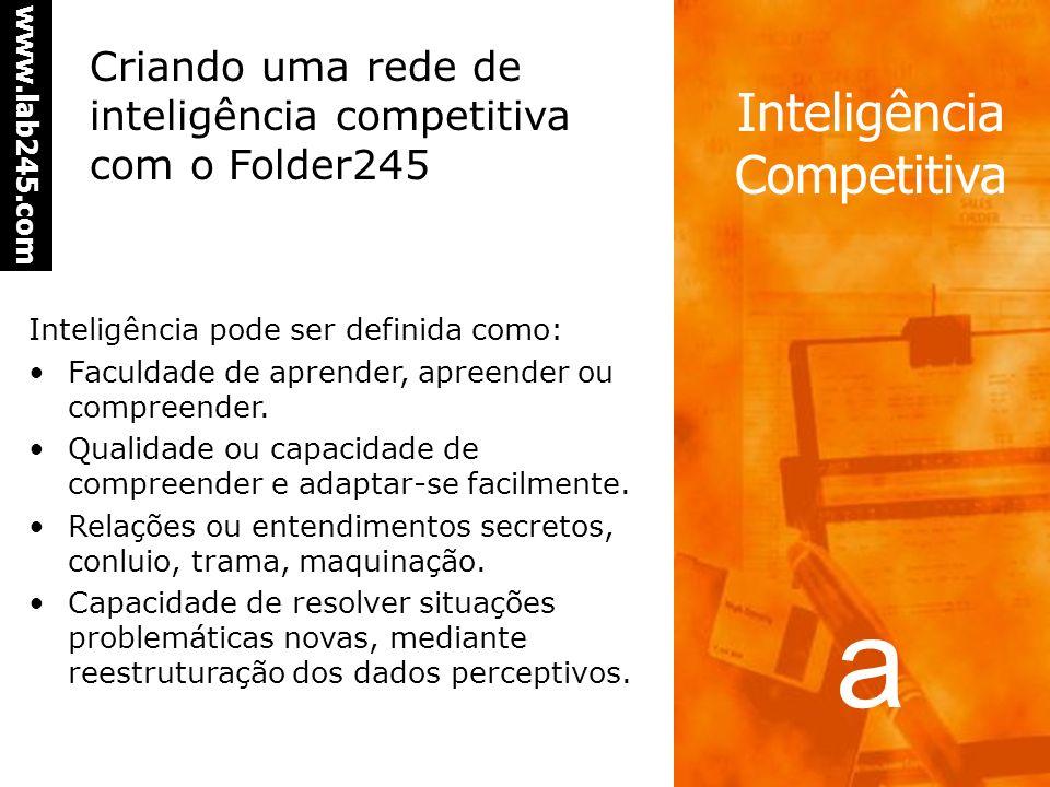 Criando uma rede de inteligência competitiva com o Folder245