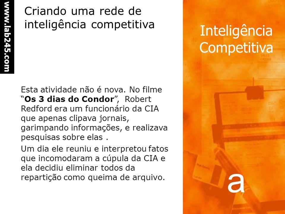 Criando uma rede de inteligência competitiva