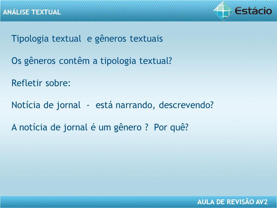 Tipologia textual e gêneros textuais