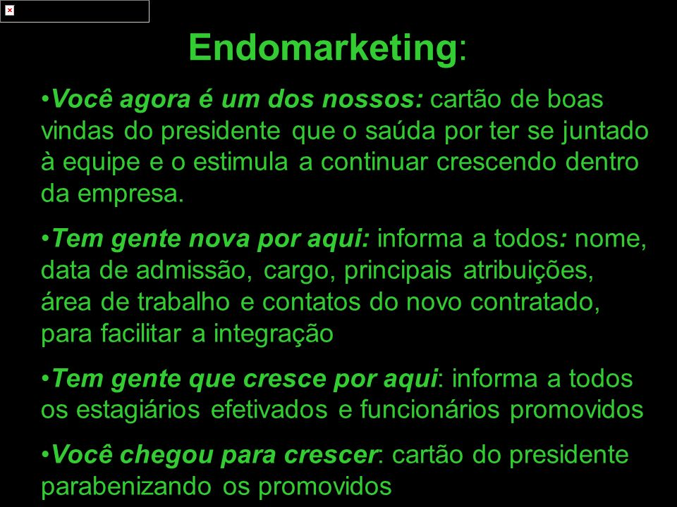 Endomarketing: