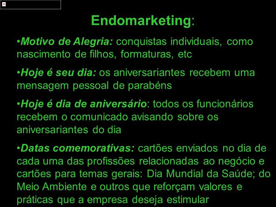 Endomarketing: Motivo de Alegria: conquistas individuais, como nascimento de filhos, formaturas, etc.