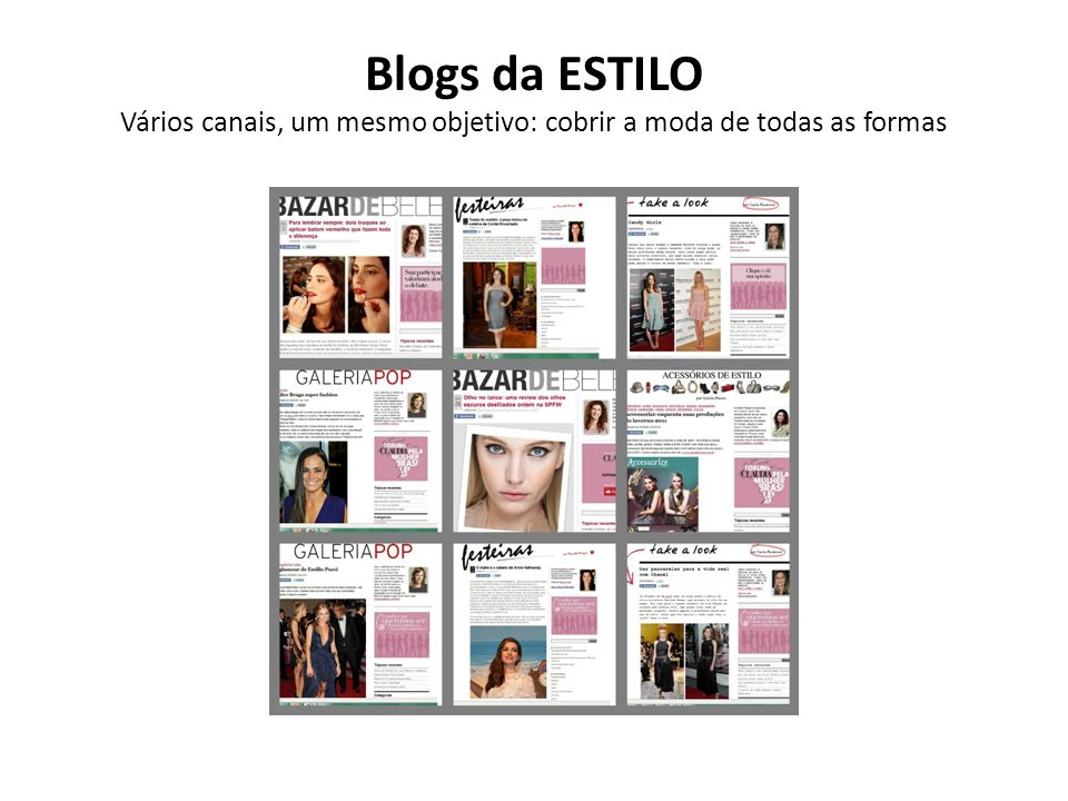 Blogs da ESTILO Vários canais, um mesmo objetivo: cobrir a moda de todas as formas