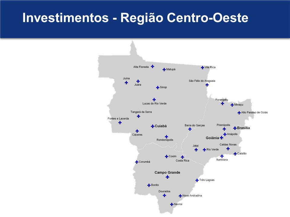 Investimentos - Região Centro-Oeste