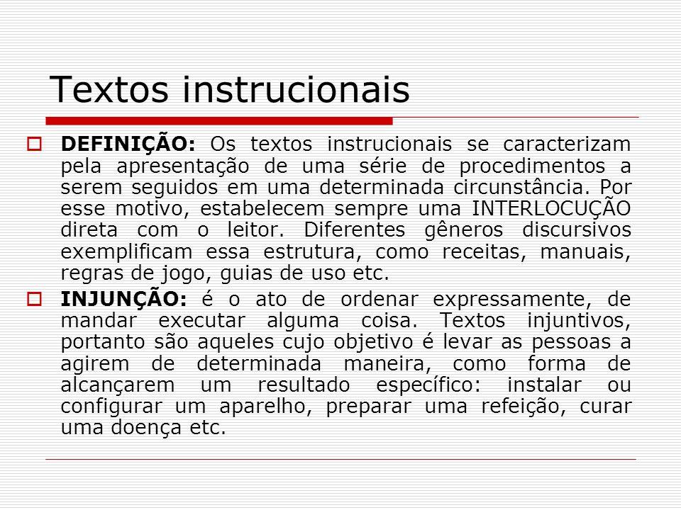 Textos instrucionais