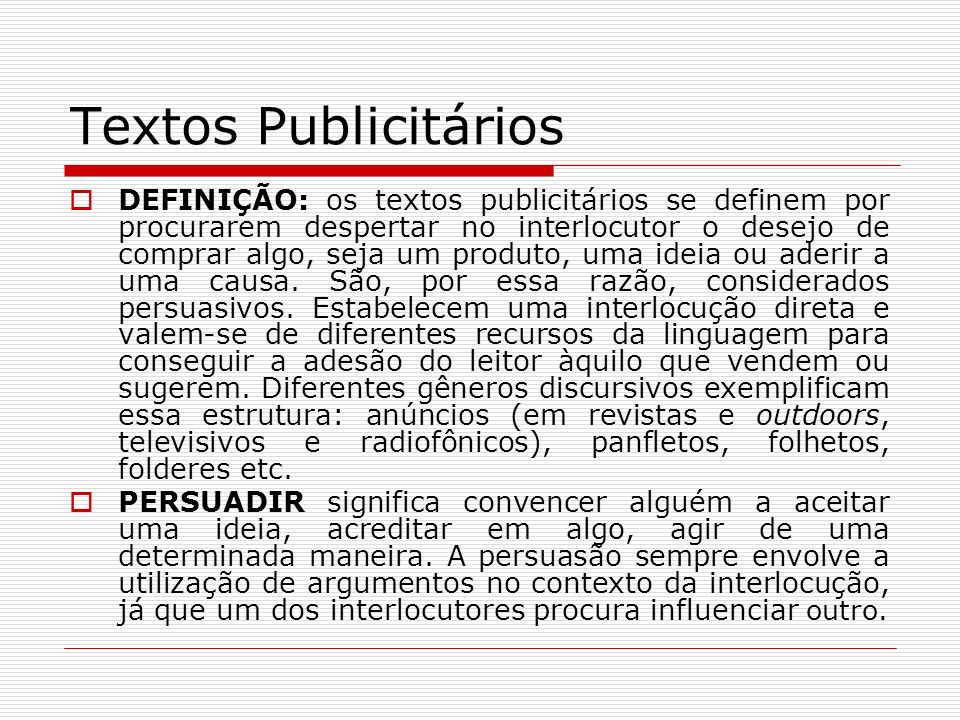 Textos Publicitários