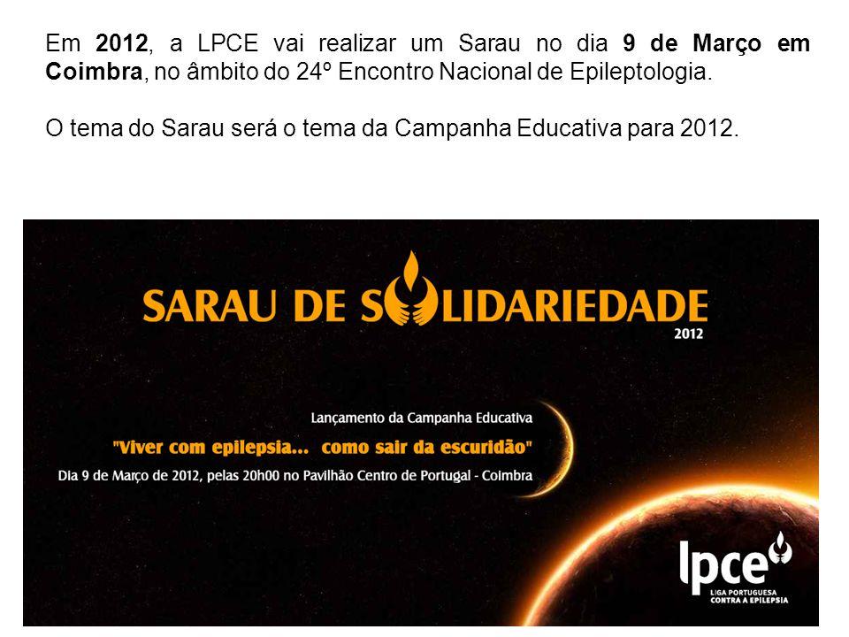 Em 2012, a LPCE vai realizar um Sarau no dia 9 de Março em Coimbra, no âmbito do 24º Encontro Nacional de Epileptologia.
