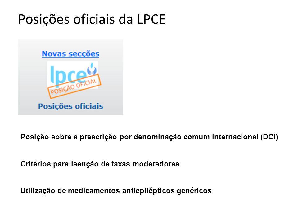 Posições oficiais da LPCE