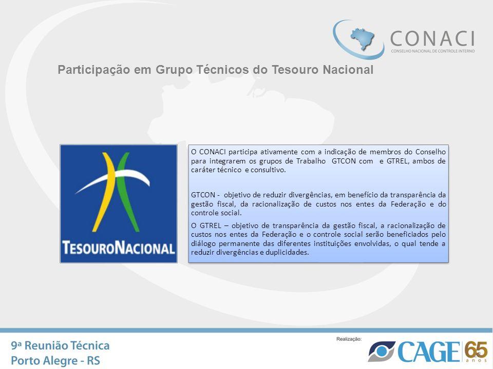 Participação em Grupo Técnicos do Tesouro Nacional