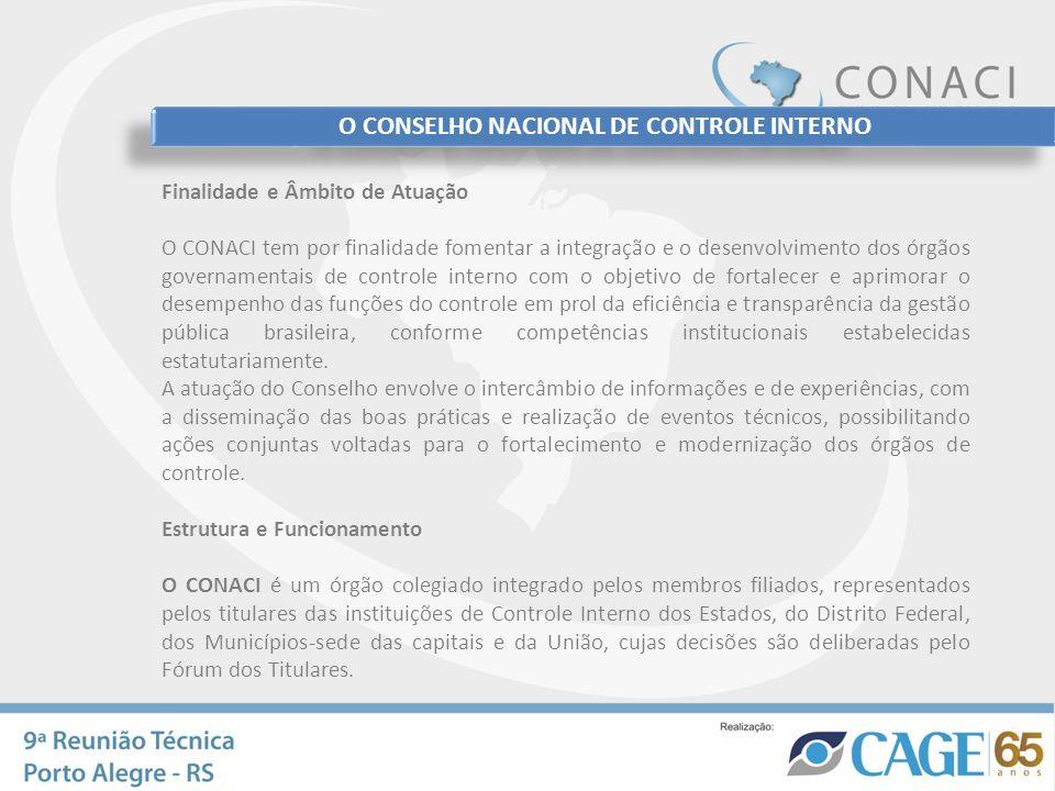 O CONSELHO NACIONAL DE CONTROLE INTERNO