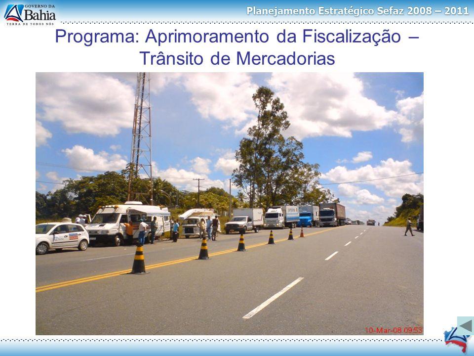 Programa: Aprimoramento da Fiscalização – Trânsito de Mercadorias