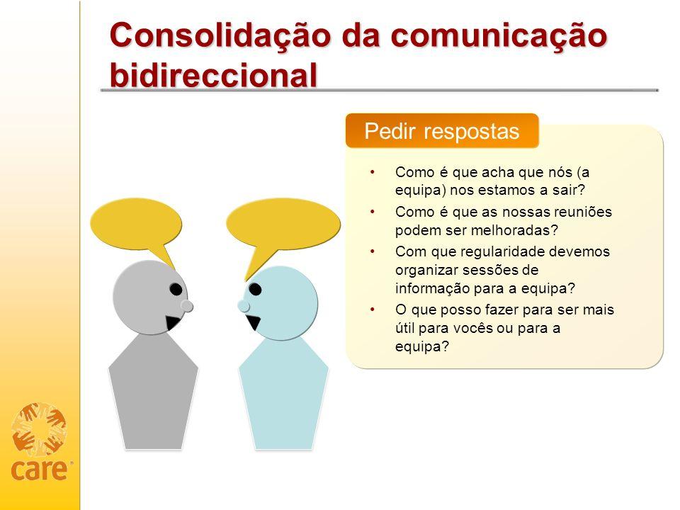 Consolidação da comunicação bidireccional