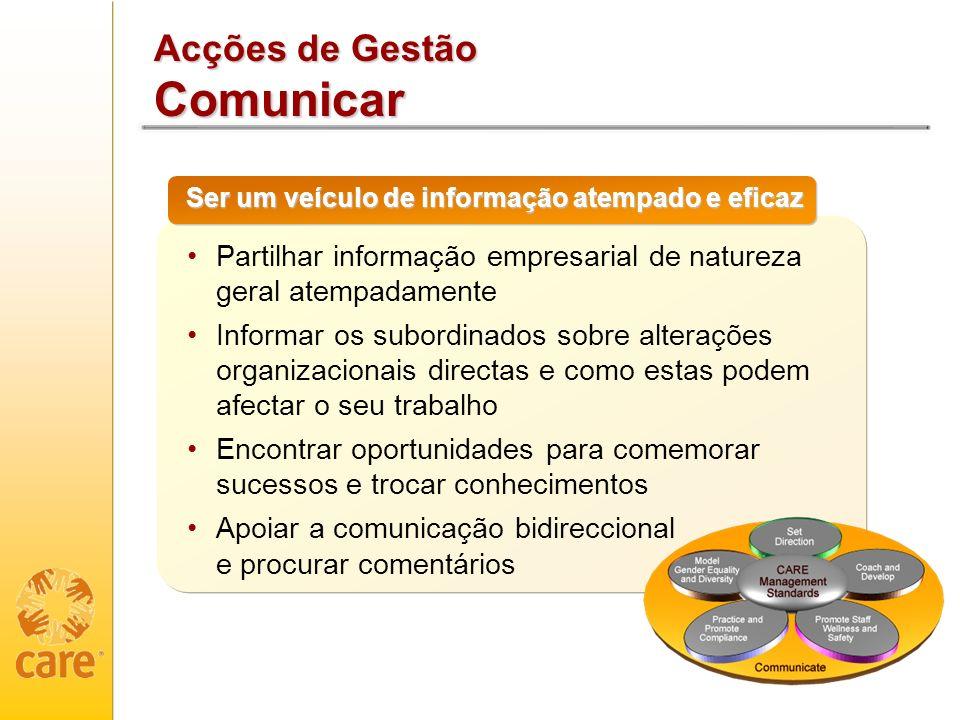 Acções de Gestão Comunicar