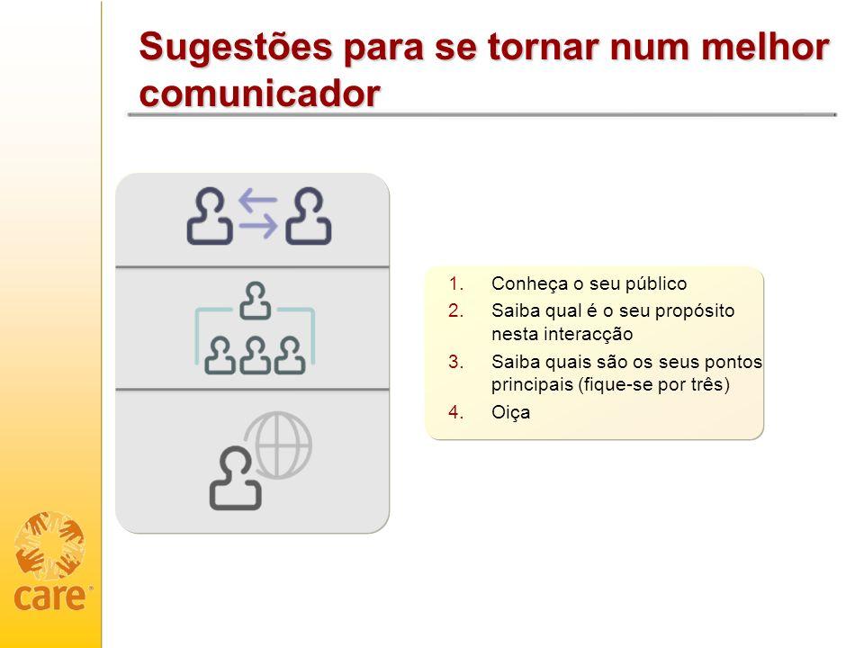 Sugestões para se tornar num melhor comunicador