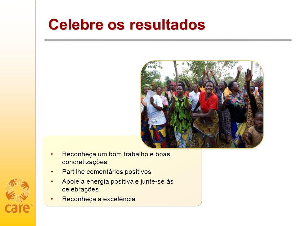 Celebre os resultados Reconheça um bom trabalho e boas concretizações