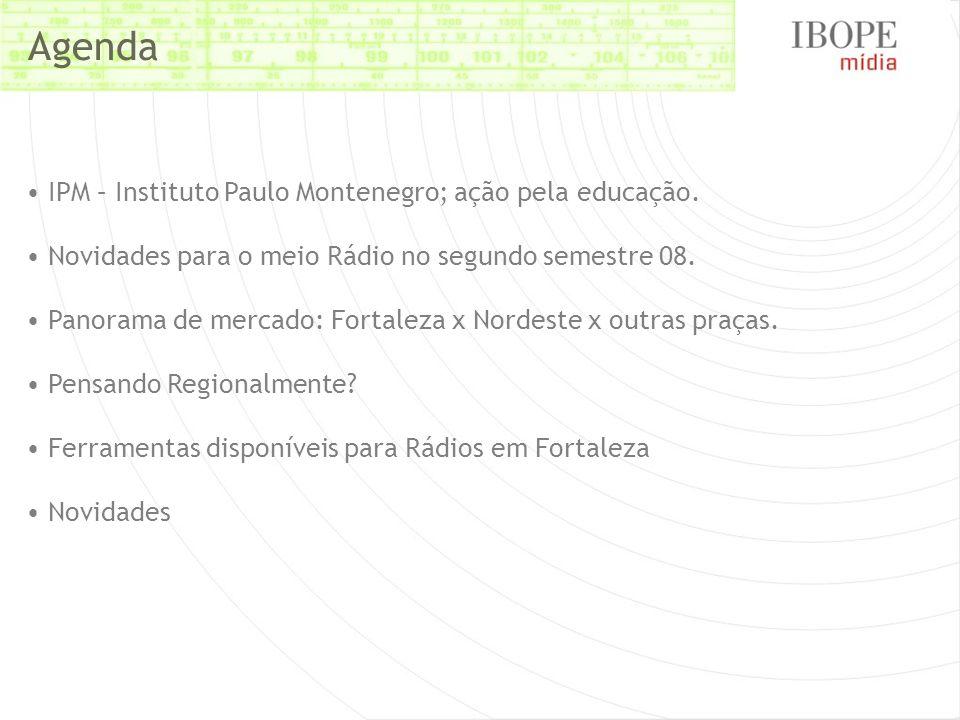 Agenda IPM – Instituto Paulo Montenegro; ação pela educação.
