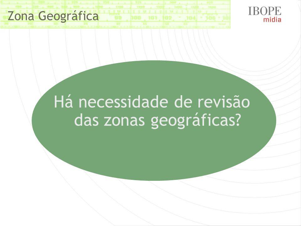 Há necessidade de revisão das zonas geográficas