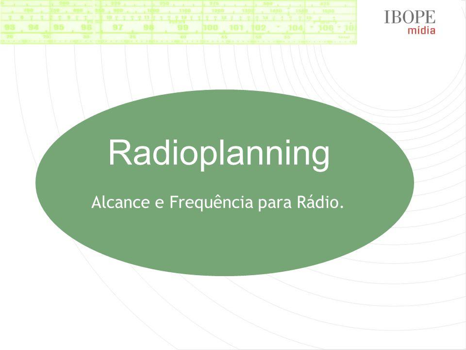 Alcance e Frequência para Rádio.