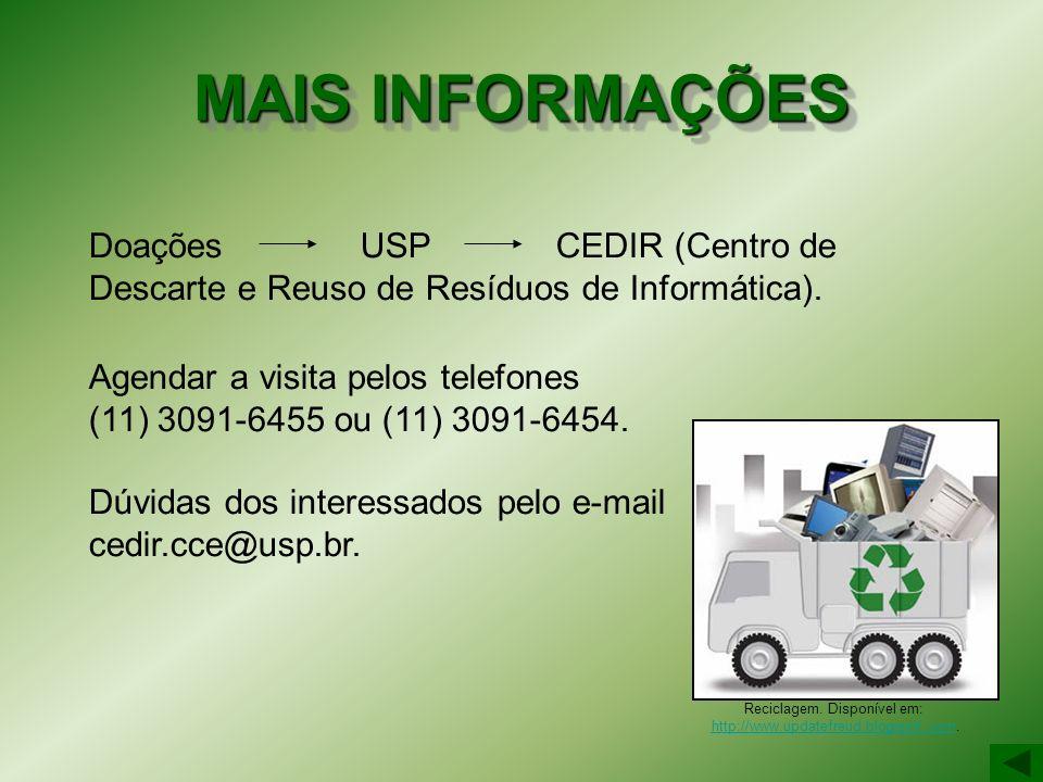 Reciclagem. Disponível em: http://www.updatefreud.blogspot..com.