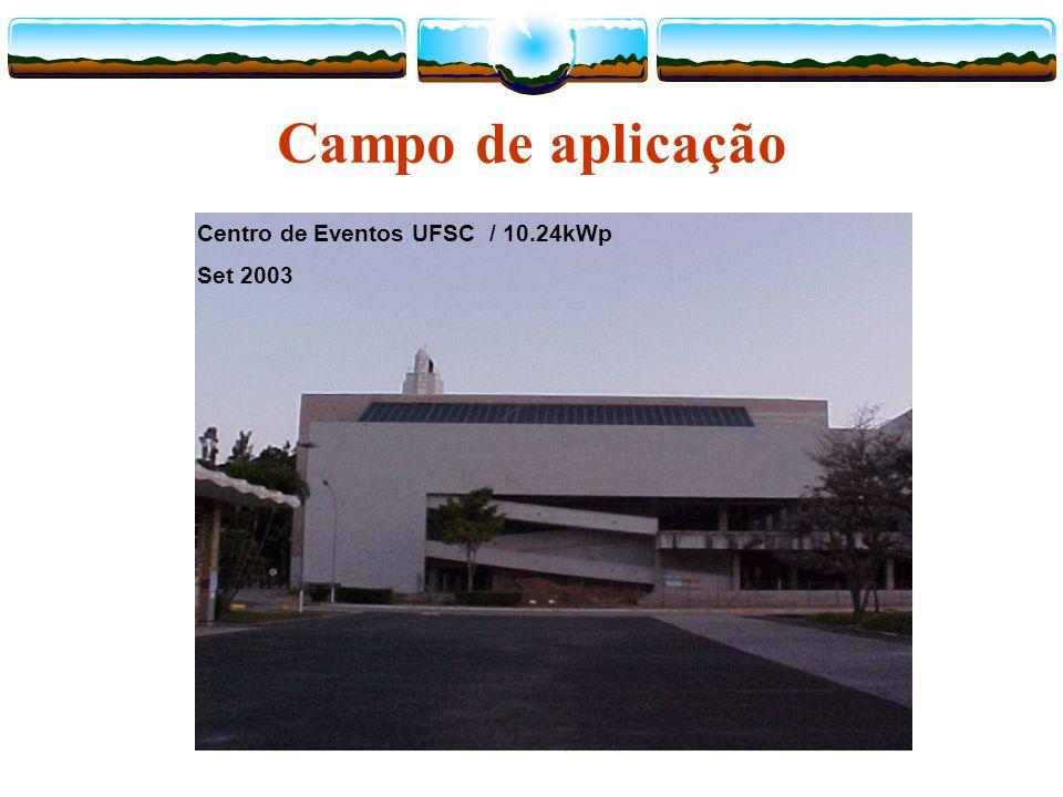 Campo de aplicação Centro de Eventos UFSC / 10.24kWp Set 2003