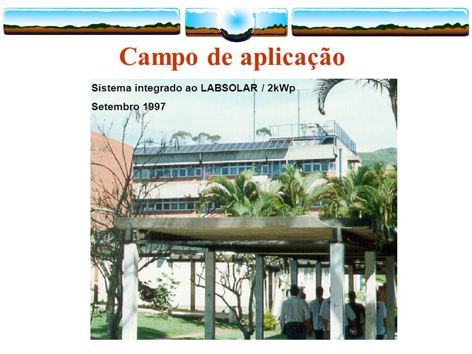 Campo de aplicação Sistema integrado ao LABSOLAR / 2kWp Setembro 1997