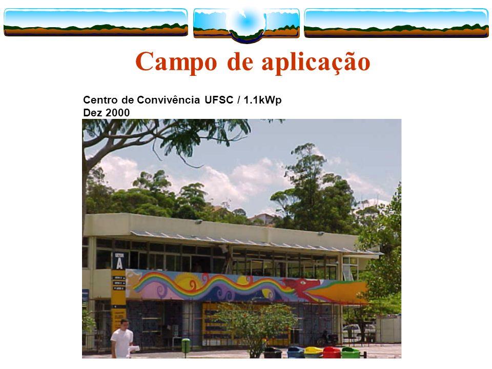 Campo de aplicação Centro de Convivência UFSC / 1.1kWp Dez 2000