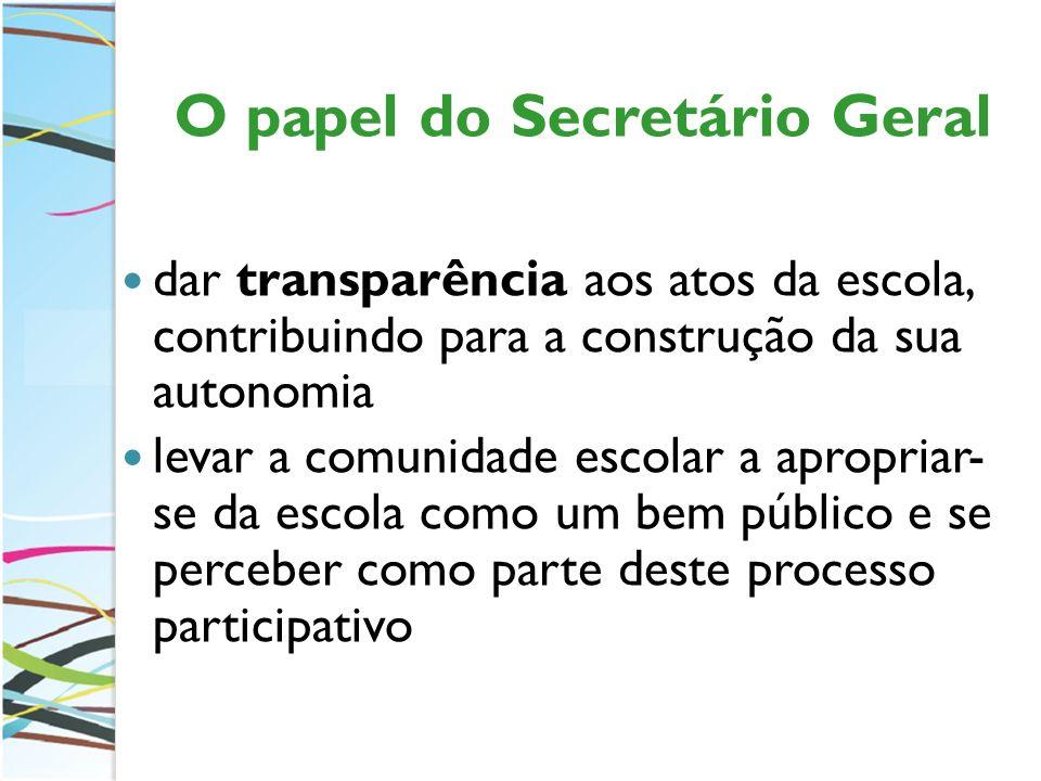 O papel do Secretário Geral