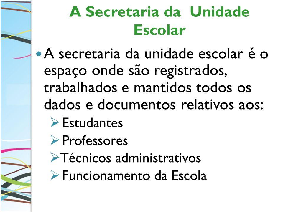 A Secretaria da Unidade Escolar