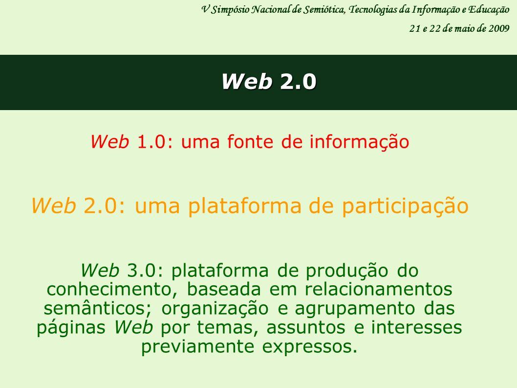 Web 2.0: uma plataforma de participação