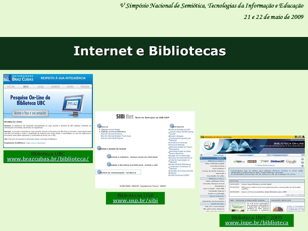 Internet e Bibliotecas