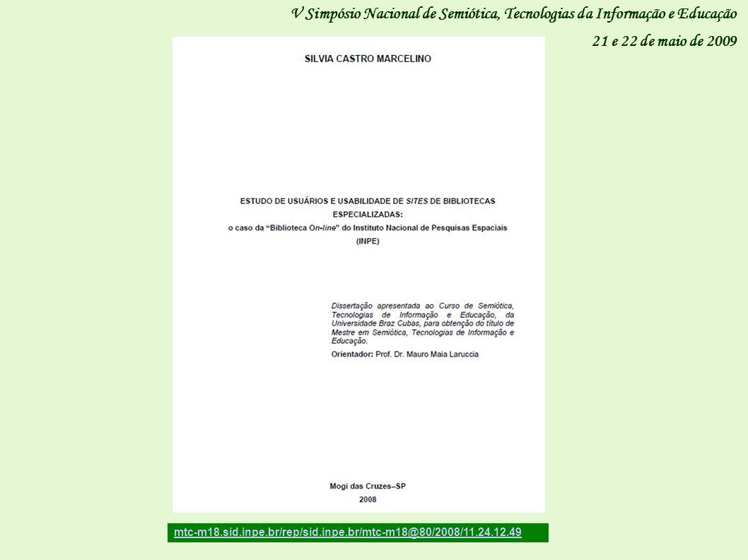 V Simpósio Nacional de Semiótica, Tecnologias da Informação e Educação