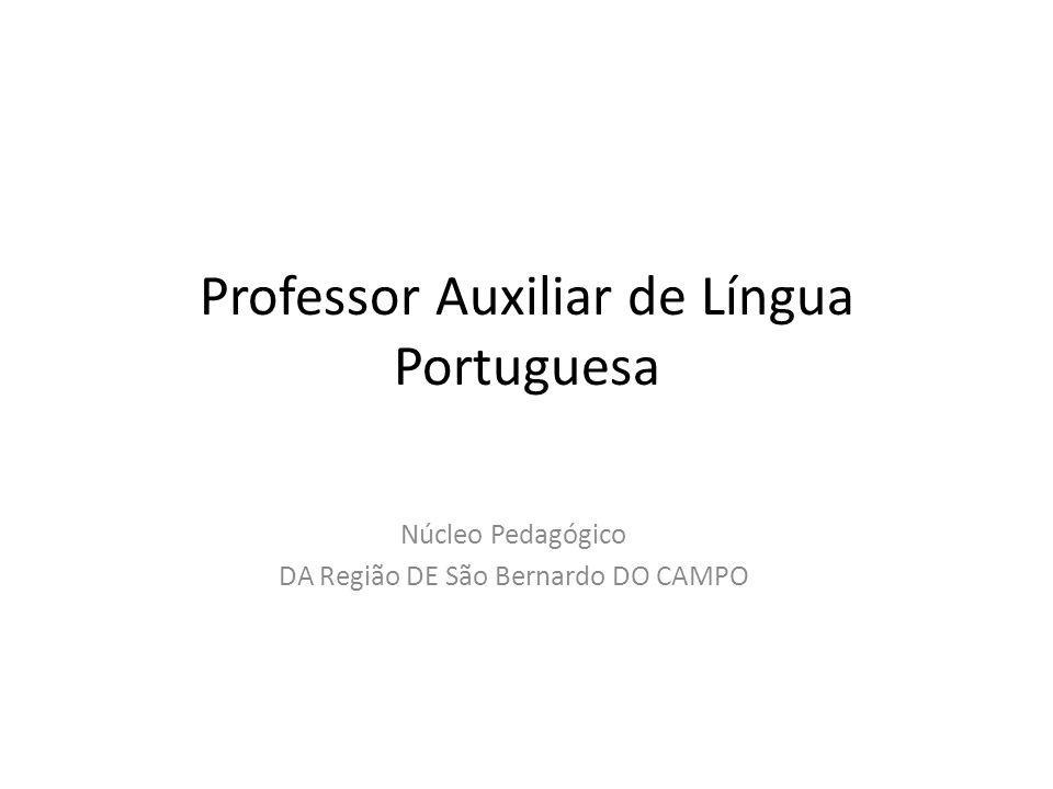 Professor Auxiliar de Língua Portuguesa
