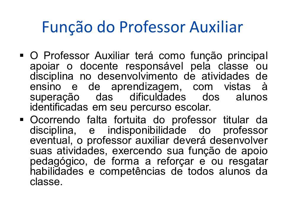 Função do Professor Auxiliar