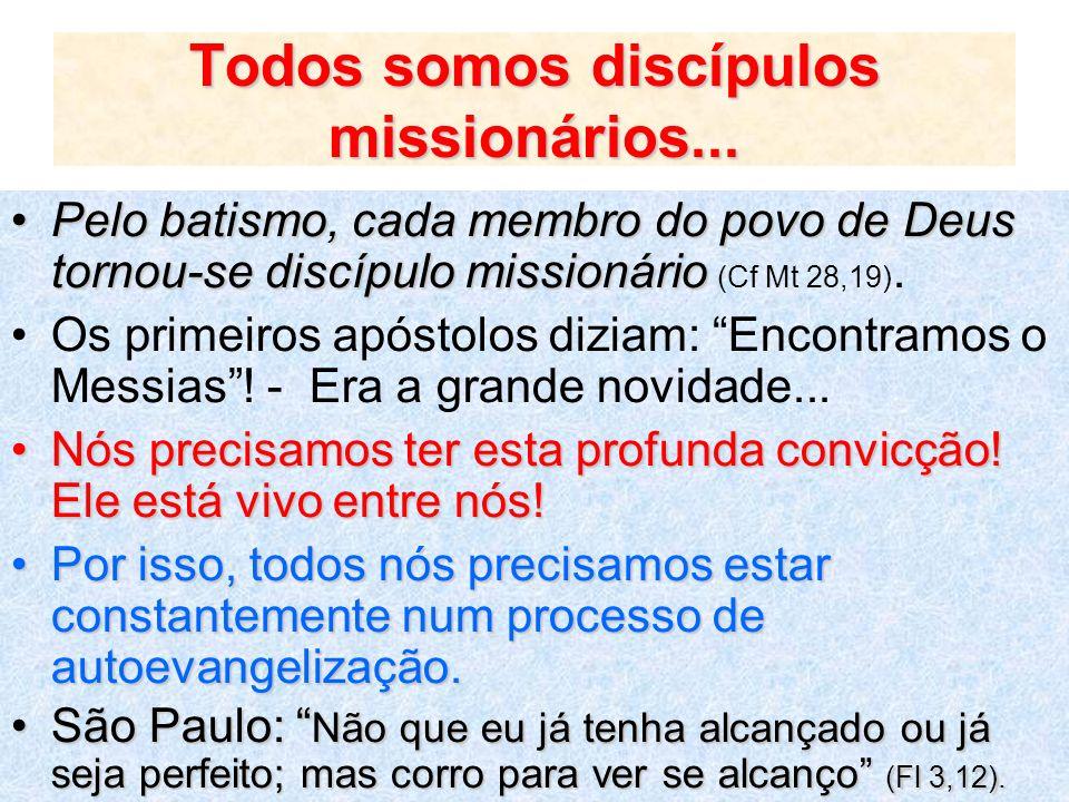 Todos somos discípulos missionários...