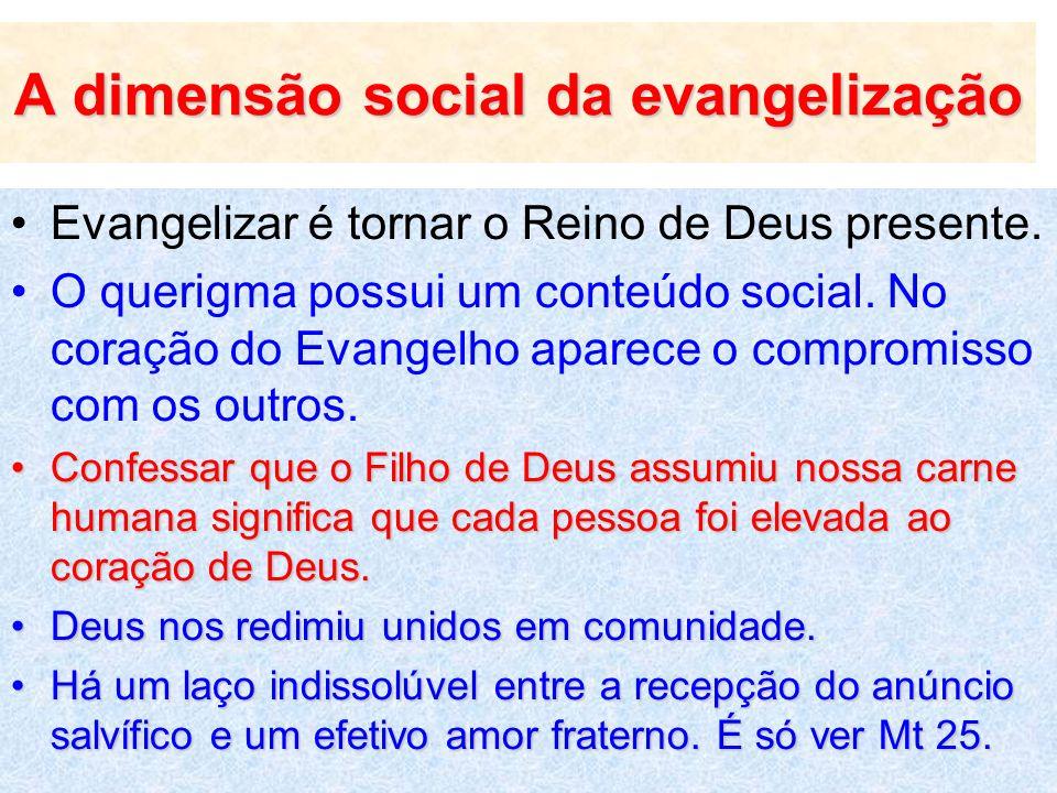 A dimensão social da evangelização