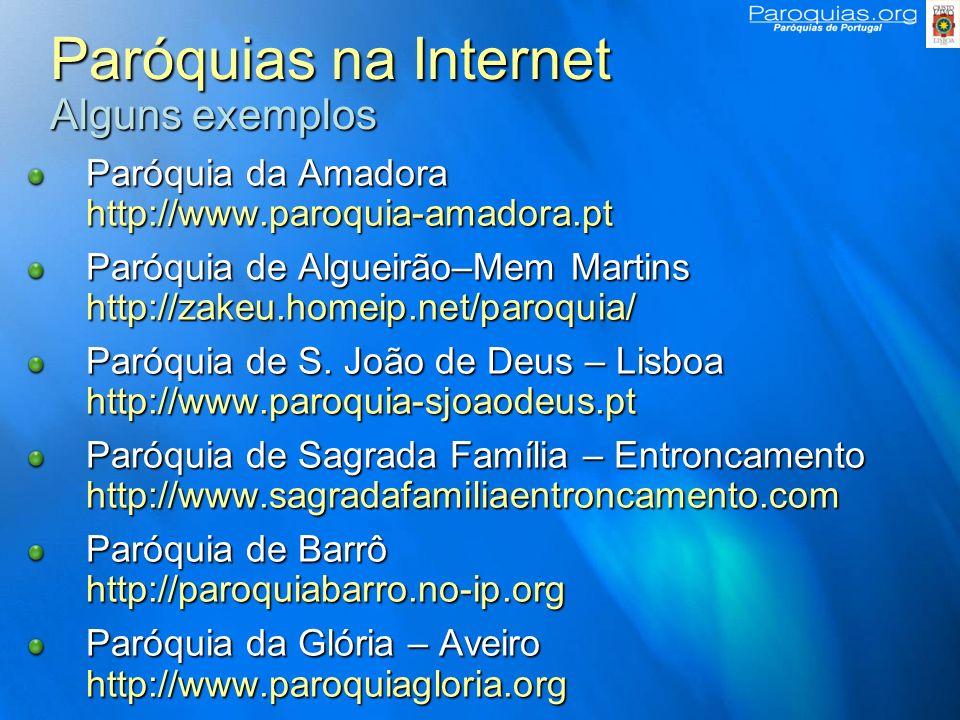 Paróquias na Internet Alguns exemplos