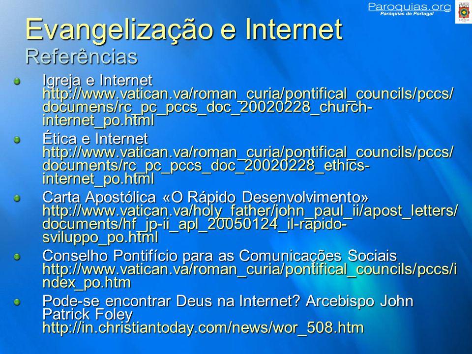 Evangelização e Internet Referências