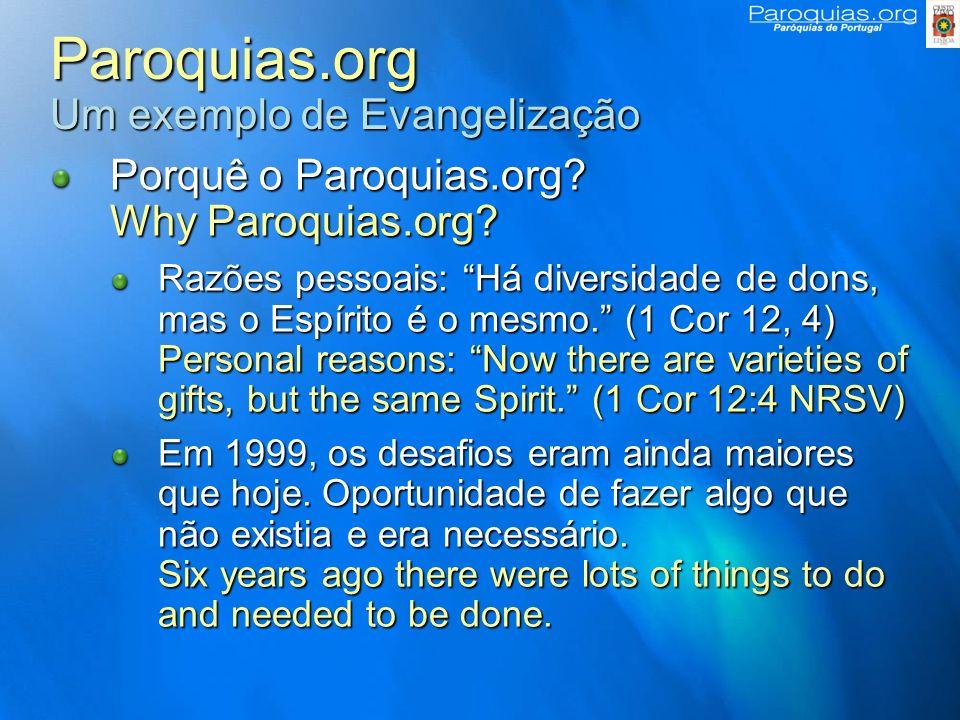 Paroquias.org Um exemplo de Evangelização