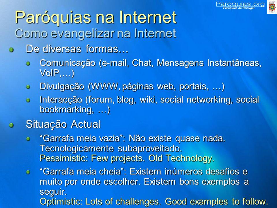 Paróquias na Internet Como evangelizar na Internet