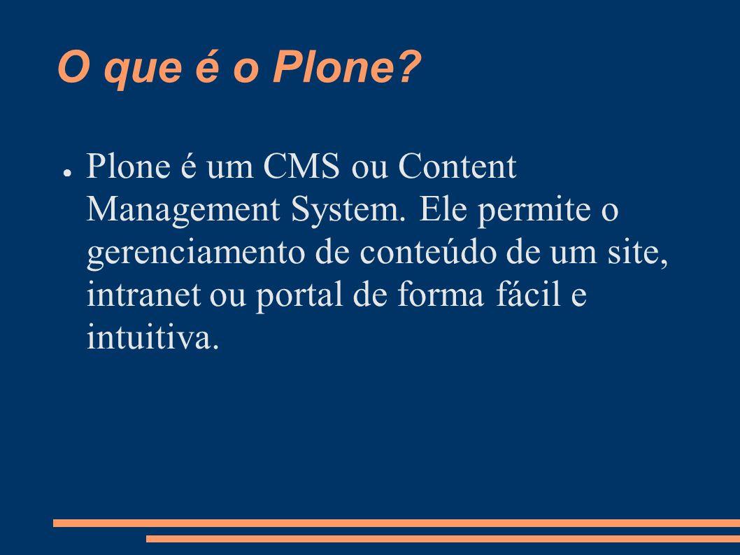 O que é o Plone