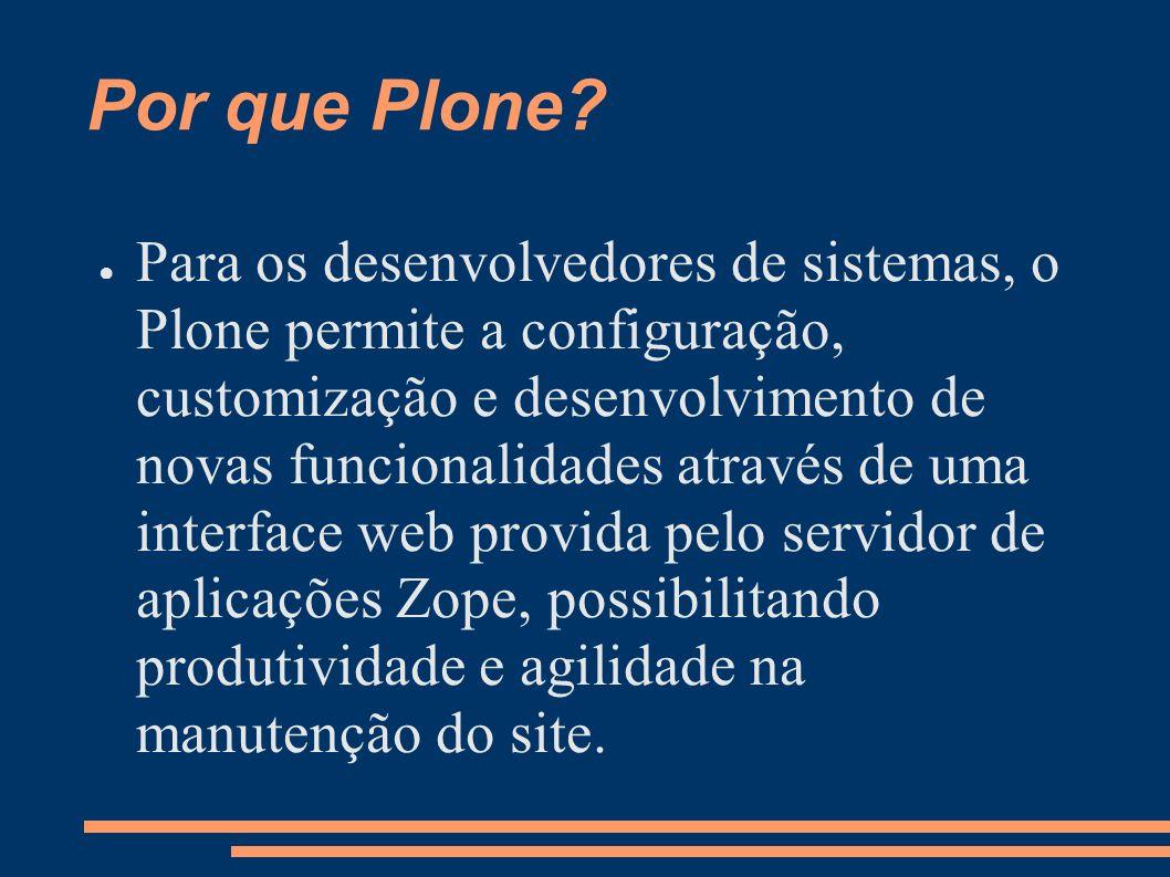 Por que Plone