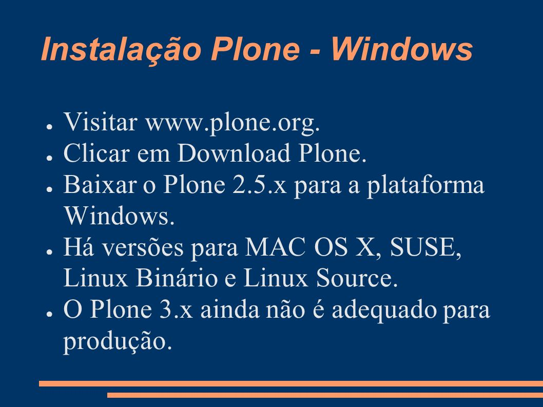 Instalação Plone - Windows