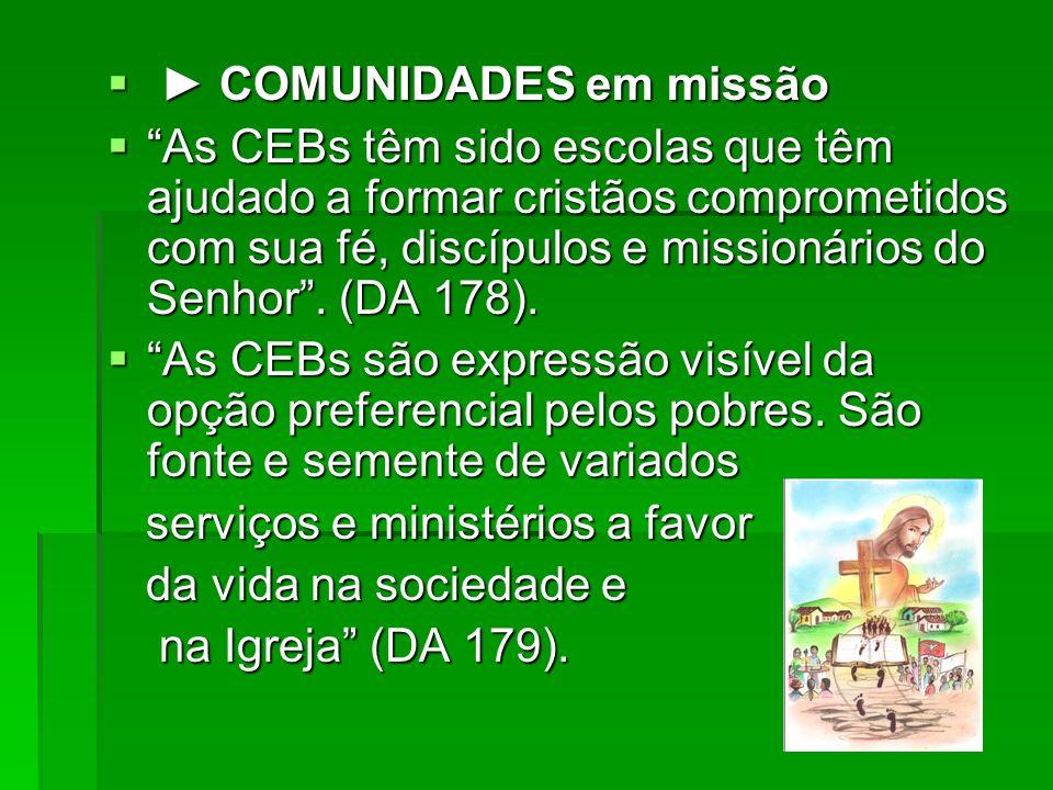 ► COMUNIDADES em missão