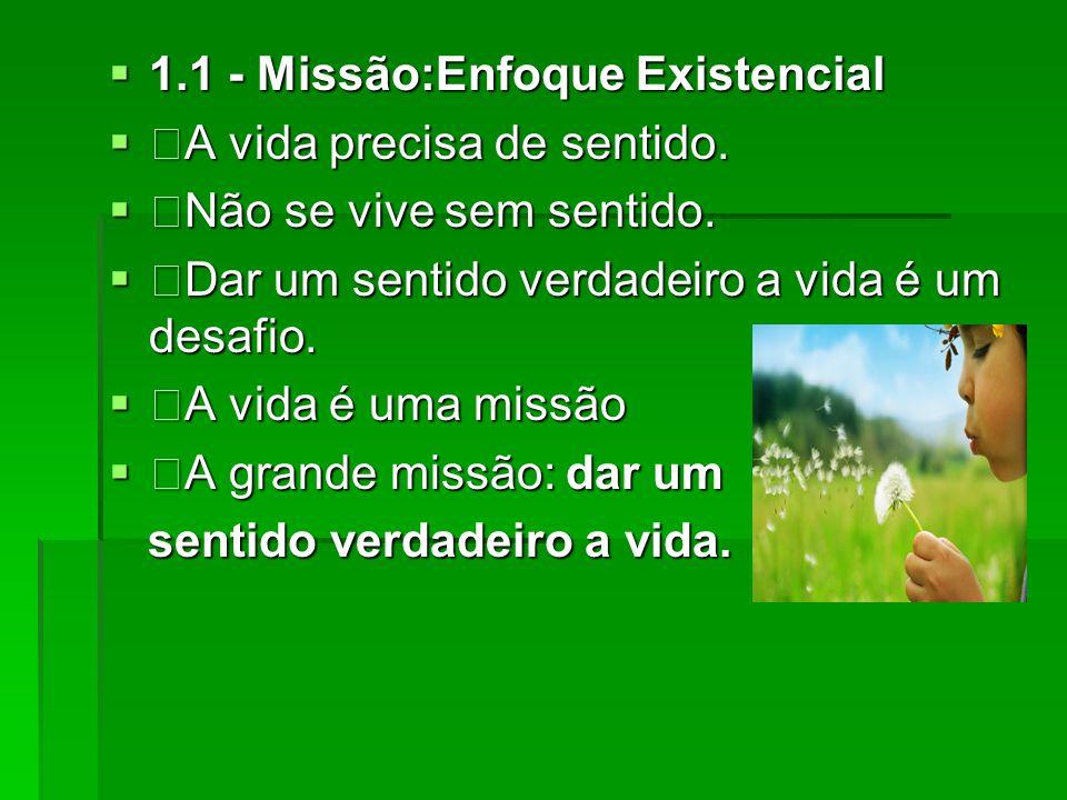 1.1 - Missão:Enfoque Existencial
