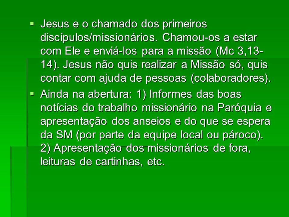 Jesus e o chamado dos primeiros discípulos/missionários