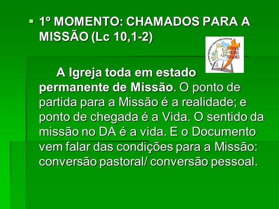 1º MOMENTO: CHAMADOS PARA A MISSÃO (Lc 10,1-2)