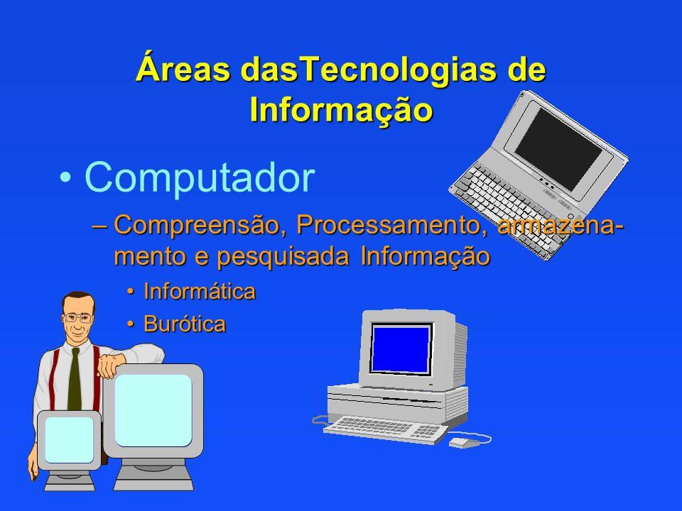 Áreas dasTecnologias de Informação