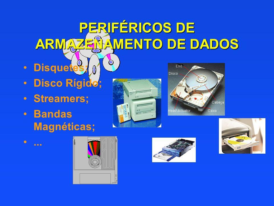 PERIFÉRICOS DE ARMAZENAMENTO DE DADOS
