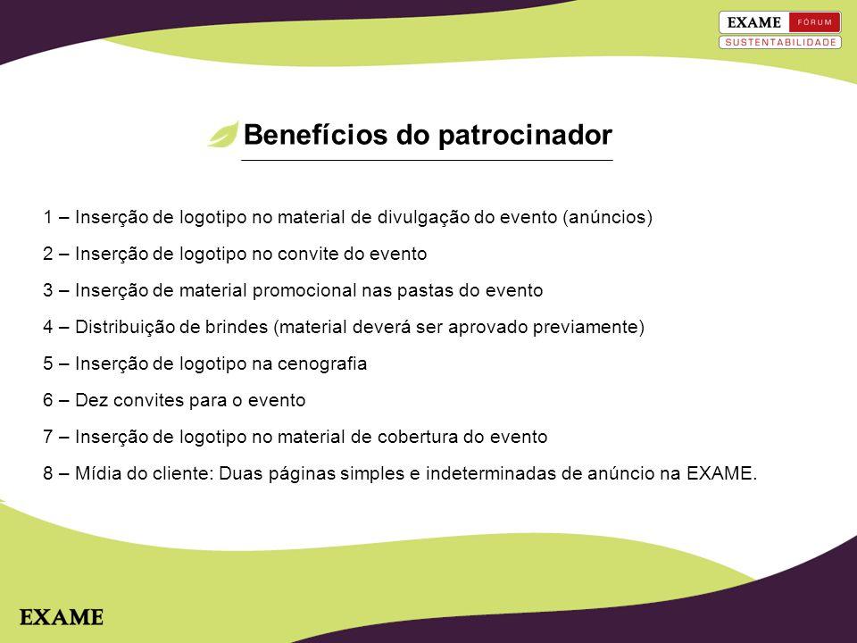 Benefícios do patrocinador
