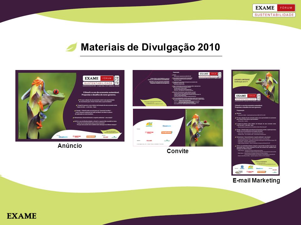 Materiais de Divulgação 2010