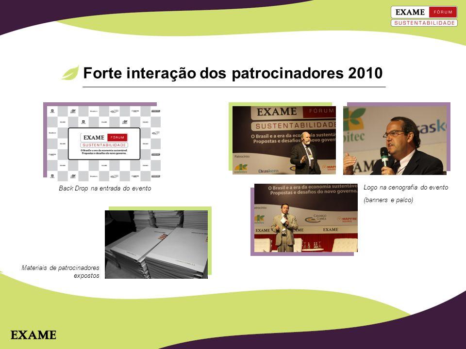 Forte interação dos patrocinadores 2010